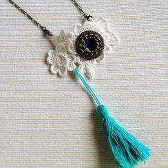 MyLittleThing - Vintage Lace 2-way Necklace/Brooch (Baby Blue)