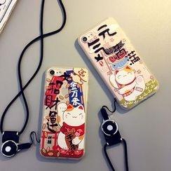 Cartoon Face - 貓咪印花手機殼 - 蘋果iPhone 6 / 6 Plus / 7 / 7 Plus