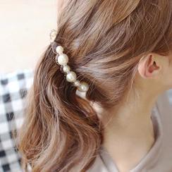 Gold Beam - Faux Pearl Hair Clip