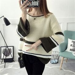 TIMI - Color Block Thick Sweater