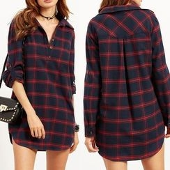 Aquello - Check Long Shirt