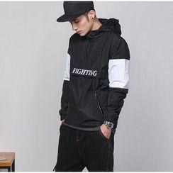 Bigboy - Letter Colour Block Hooded Jacket