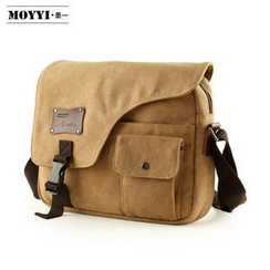 Moyyi - Flap Canvas Messenger Bag