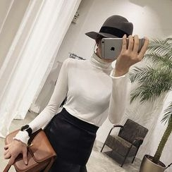 Eva Fashion - Turtleneck Long-Sleeve T-shirt