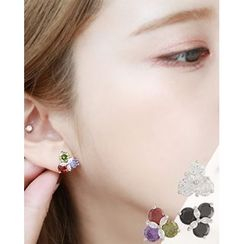 Miss21 Korea - Rhinestone Stud Earrings