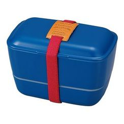 Hakoya - Hakoya American Vintage Dome 2 Layer Lunch Box (Navy)