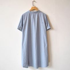 P.E.I. Girl - Embroidered Short-Sleeve Shirtdress