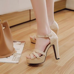 Shoes Galore - Ankle Strap High Heel Sandals