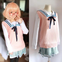 Ghost Cos Wigs - Beyond the Boundary Mirai Kuriyama School Uniform Cosplay Costume
