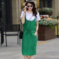 Romantica - Set: Short-Sleeve T-Shirt + Jumper Skirt