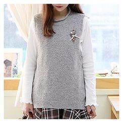 Sechuna - Dip-Back Knit Vest