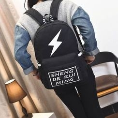 Seok - Flash Print Canvas Backpack