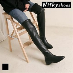 Wifky - Faux-Leather Over-the-Knee Boots