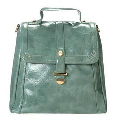 ans - Faux-Leather Belted Flap Backpack