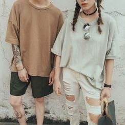 Mr. Cai - Short-Sleeve Couple T-Shirt