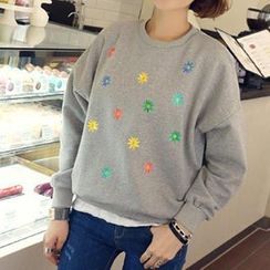Lina - Long Sleeved Embroidered Pullover