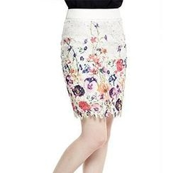 O.SA - Floral Lace Pencil Skirt