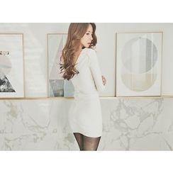 UUZONE - Ribbed Bodycon Dress