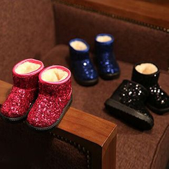 Luco - Kids Sequined Fleece-lined Snow Boots