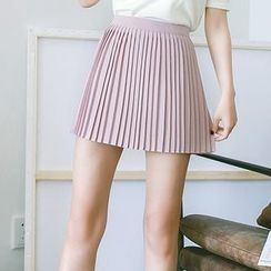 Coolvibe - Pleated A-Line Skirt