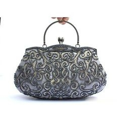 Glam Cham - Embroidered Beaded Handbag