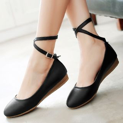 Gizmal Boots - Ankle Strap Flats
