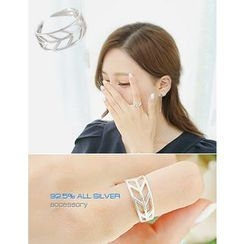 soo n soo - Leaf Pattern Silver Ring