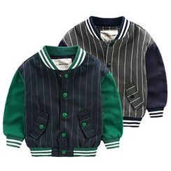 Kido - Kids Striped Baseball Jacket