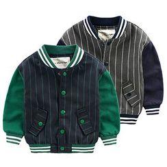 Kido - 小童條紋棒球外套