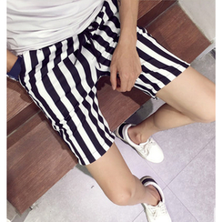 Fisen - Stripe Neoprene Shorts