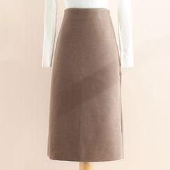 11.STREET - Plain Midi Skirt