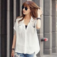 Champi - Panel Short-Sleeve Blouse