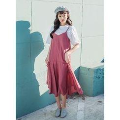 icecream12 - Spaghetti-Strap A-Line Long Dress