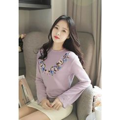 MyFiona - Flower-Embroidered Knit Top
