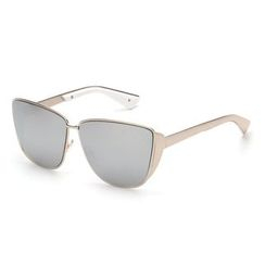 Biu Style - Oversized Metal Frame Sunglasses