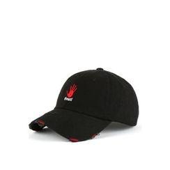 Ohkkage - Logo-Front Distressed Baseball Cap