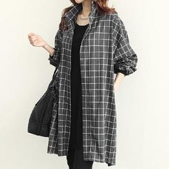 NANING9 - Oversized Check Jacket