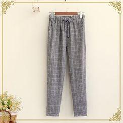 Fairyland - Check Drawstring Pants