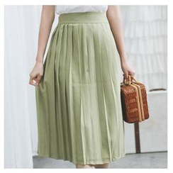 Sens Collection - Pleated Long Skirt