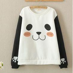 白金天使 - 熊貓印花衛衣