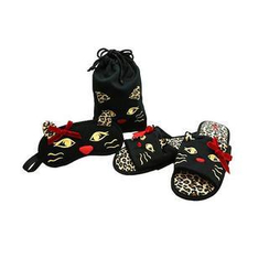 Betta - Red Nose Cat Slippers Travel Set