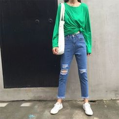 Chililala - Cropped Straight Fit Jeans
