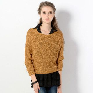 YesStyle Z - Mock Two-Piece Knit Sweater