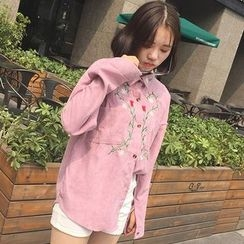 QZ Lady - Flower Embroidered Shirt