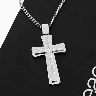 MURATI - Rhinestone Cross Pendant