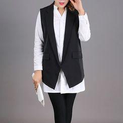 Rainbow Plus - Set : Long-Sleeve Blouse + Vest