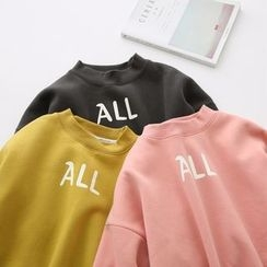 LEMONADE - Lettering Mock Neck Pullover