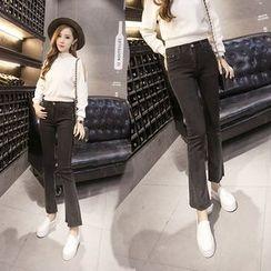 Ashlee - Elastic Boot-cut Jeans