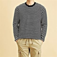 THE COVER - Round-Neck Stripe T-Shirt