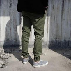 YIDESIMPLE - Cotton Slim-Fit Pants